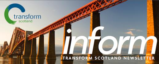 Transform Scotland September 2013 newsletter (header)